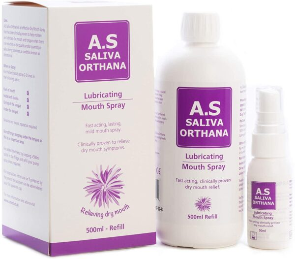 A S Saliva Orthana Lubricating Dry Mouth Spray Refill