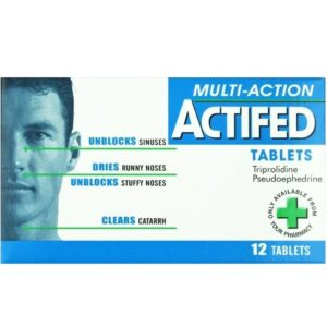 Actifed Multi Action Tablets - Congestion And Allergy - 12 Tablets