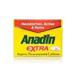 Anadin Extra Caplets, 12 Caplets