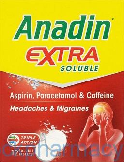 Anadin Extra Soluble, 12 Tablets