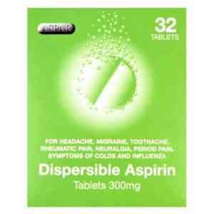 Aspirin 300mg Dispersible Tablets, 32 Tablets