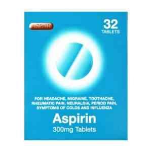 Aspirin Tablets 300mg, 32 Tablets