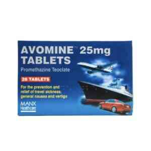 Avomine 25mg Tablets, 28 Tablets