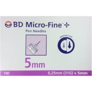 BD Microfine Insulin Pen Needles 5mm 31G 320632
