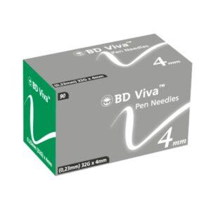 BD Viva Pen Needles 4mm 32G