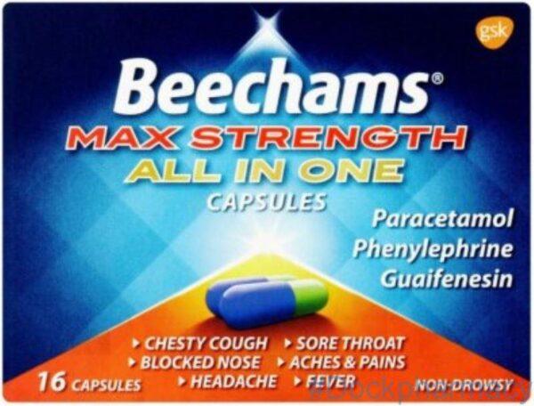 Beechams Max Strength All in One Capsule 16 capsules