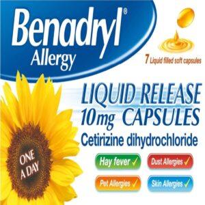 Benadryl Allergy Liquid Release Cetirizine Capsules 10mg