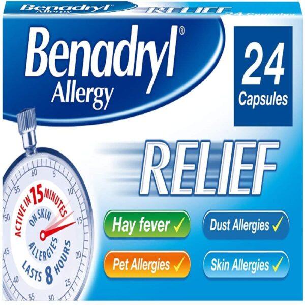 Benadryl Allergy relief fast acting antihistamine