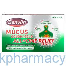 Benylin Mucus Cough All In One Tablet