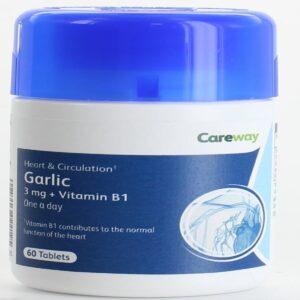 Careway Odourless Garlic 3mg Plus Vitamin B1 Tablets