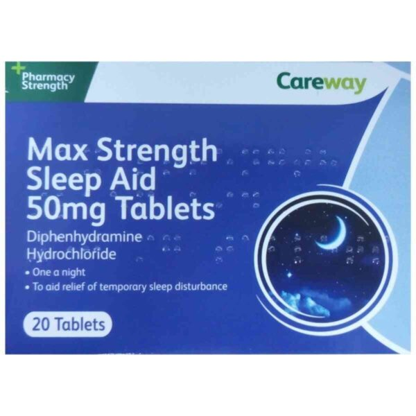 Careway Sleep Aid 50mg 20 Tablets