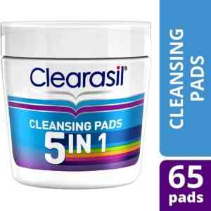 Clearasil 5 In 1 Ultra Cleansing Pads, 65 Pads