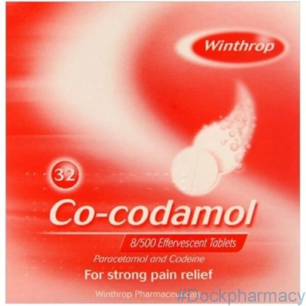 Co-Codamol 8/500 Effervescent Tablets 32s