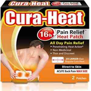 Cura Heat Back Pain Max Size Direct To Skin Patch