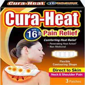 Cura Heat Neck And Shoulder Direct to Skin Pain Patch, 3 Patches