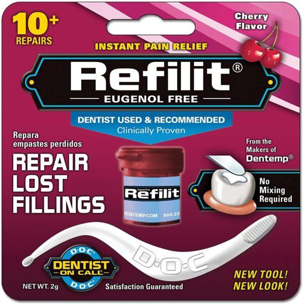 Dentemp REFILIT Dental Cement Tooth Filling Repairs Lost Fillings