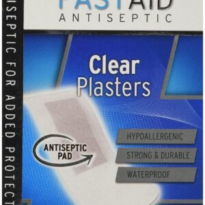 fastaid clear plasters 24 plasters