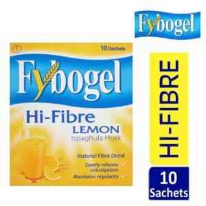 Fybogel Hi-Fibre Lemon Sachet Constipation Relief, 10 Sachets