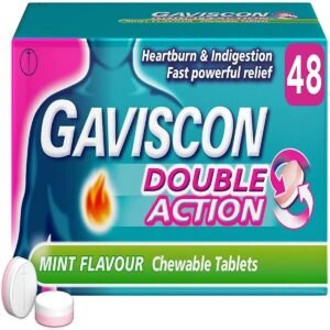 Gaviscon Double Action Heartburn Relief and Indigestion Tablets Mint