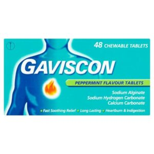 Gaviscon heartburn And Indigestion Relief Peppermint Chewable Tablets