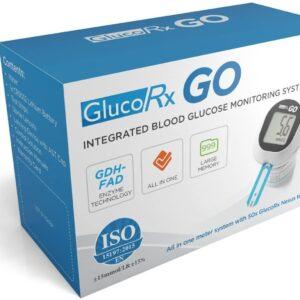 GlucoRx Go Blood Glucose Meter Plus 50 Test Strips