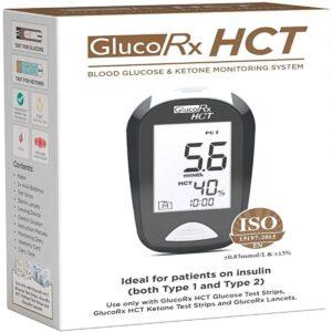 GlucoRx HCT Blood Glucose And Ketone Monitoring System