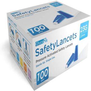GlucoRx Safety Lancets 23G 2.2 mm