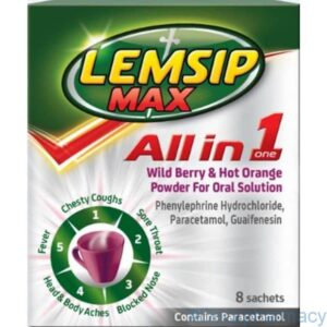 Lemsip Max All in 1 Wild Berry & Hot Orange 8 Sachets