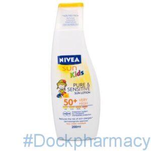 Nivea Sun Kids Pure and Sensitive Lotion F50, 200ML