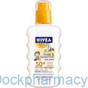 Nivea Sun Kids Sensitive Spray F50,