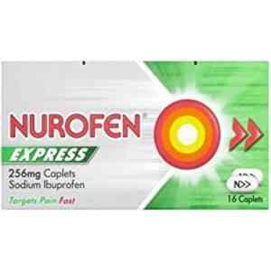 Nurofen Express 256mg Caplets 16 Caplets
