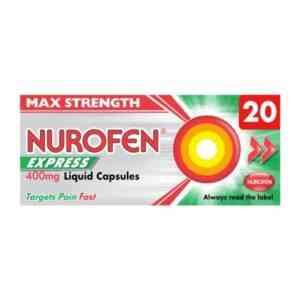 Nurofen Express 400mg Liquid Capsules, 20 Capsules