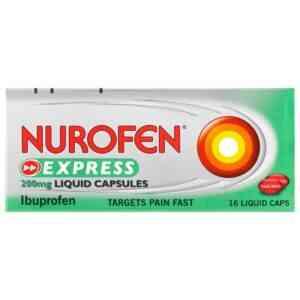 Nurofen Express Liquid Capsules 200mg 16 Capsules