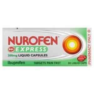 Nurofen Express Liquid Capsules 200mg 30 Capsules