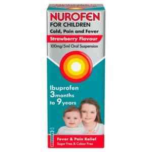 Nurofen For Children Cold Fever And Flu Strawberry, 100ml