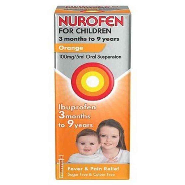 Nurofen For Children Orange Ibuprofen 100ml