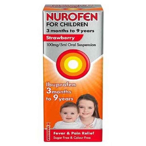 Nurofen For Children Strawberry Ibuprofen, 200ml