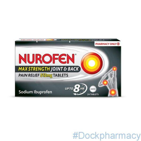 Nurofen Joint & Back Tablets 512mg 24 tablets