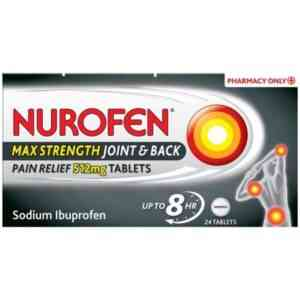 Nurofen Max Strenght Joint & Back Pain Relief 512mg, 24 Tablets