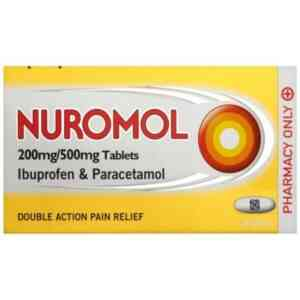 Nuromol Tablets Ibuprofen And Paracetamol, 12 Tablets