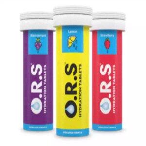 ORS Hydration Salts Tablet Lemon, 12 Soluble Tablets