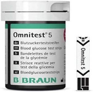 Omnitest 5 Blood Glucose Test Strips