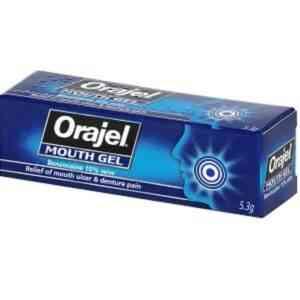 Orajel Mouth Gel Mouth Ulcer Relief Gel