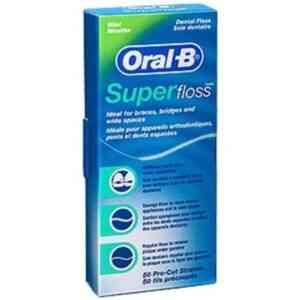 Oral B SuperFloss Dental Floss for Braces Bridges