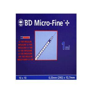 PLASTIPAK MICROFINE U100 1ML SYRINGE AND NEEDLE 29G