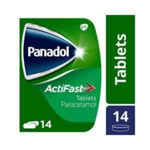 Panadol Actifast Compact Paracetamol Tablets, 14 Tablets