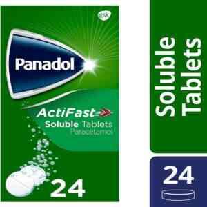 Panadol Actifast Soluble Paracetamol Tablets, 24 Tablets