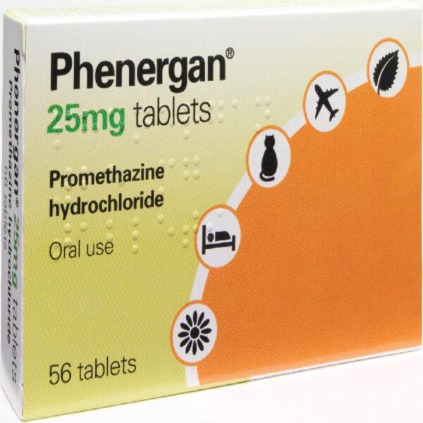 Phenergan Promethazine 25mg Tablets 56 tablets