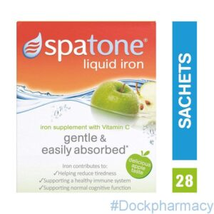 Spatone Liquid Iron Supplement Apple Flavour with Vitamin C, 28 Sachets