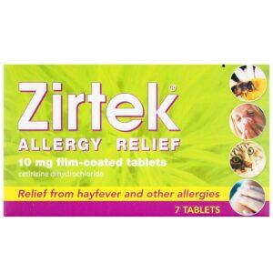 Zirtek Allergy Relief 30 Tablets